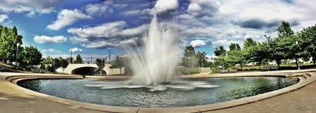 Big Spring Park Fountain Huntsville AL HDR