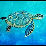 """Swimming Sea Turtle"" by Littlepig"