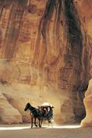 Cart in Narrow Gorge (Siq), Petra, Jordan