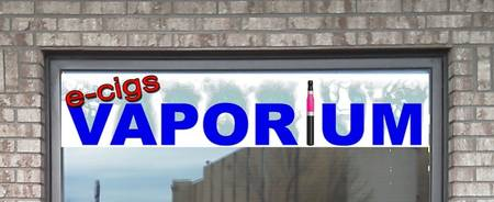 Sign for E Vaporium