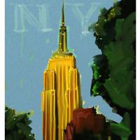 NY_15x25.5.Robert Art Prints & Posters by Andrew Faulkner