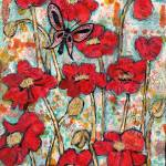 """Butterfly Sonata, red poppy art"" by schulmanart"
