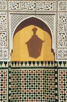 Shadow of Lantern, Moulay Ismail Mausoleum, Meknes