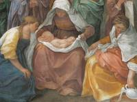 Detail of The Birth of the Virgin