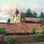 """Carmel Mission (California)"" by dozalart"