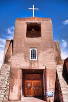 San Miguel Mission with Blue Sky