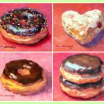 """I Love Donuts"" by KimStenbergFineArt"