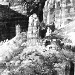 """Sedona Cliffs Black and White"" by dozalart"