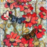 """beethoven butterflies, red poppy art"" by schulmanart"