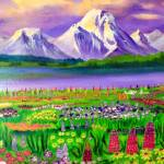 """""""Glaciers and wildflowers"""" by 1kelton"""