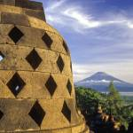 """Volcano and Stupa, Borobudur, Indonesia"" by petrsvarc"