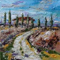 Little Farmhouse In Tuscany Oil Painting