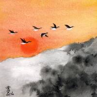Zen Sunset Art Prints & Posters by OY Tai