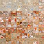 """Orange And Beige. Modern Mosaic Tile Art Painting"" by MarkLawrence"