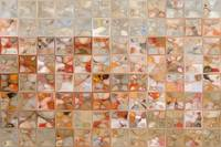 Orange And Beige. Modern Mosaic Tile Art Painting