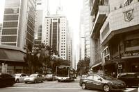 Central Business District , Singapore black/white