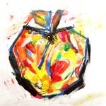 """""""Living takes an apple a day, they say"""" by CaraDiane"""