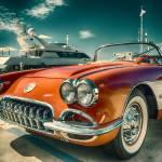 """1959 Red Corvette Chevrolet Car"" by Black_White_Photos"