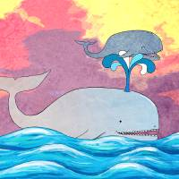 How Whales Have Fun Art Prints & Posters by Shawna Rowe
