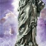 """""""Statue of Liberty Oil Painting"""" by GinetteCallaway"""