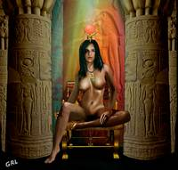 Traditional Modern Female Nude Goddess Isis Of Mag