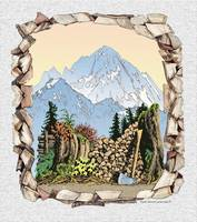 MOUNT LARrABEE AUTUMN WOODPILE DRAWING