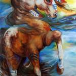 """SPIRIT THUNDER INDIAN WAR HORSE"" by MBaldwinFineArt2006"