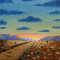 Desert Highway Art Prints & Posters by Gordon Beck