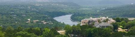 Looking over Lake Austin