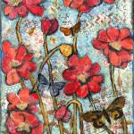"""butterfly brahms, red poppy art"" by schulmanart"