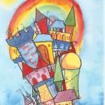 """rainbow corners"" by Genevieve"