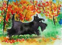 Scottie Dog 'Autumn Stroll'