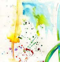 Summer Splish Splash Abstract Watercolor