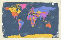 Retro Political Map of the World