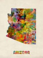 Arizona Watercolor Map