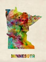 Minnesota Watercolor Map