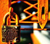 GOLDDOOR PADLOCK IN ORANGE Edit B
