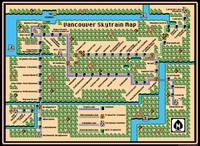 Vancouver Skytrain Map (2015) in SMB3 Style