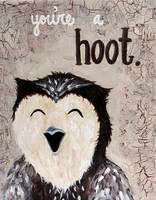 You're a Hoot Laughing Owl Painting
