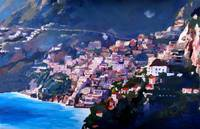 Magic Coastline and Scenery in Amalfi Italia
