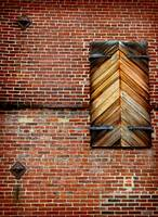 Wooden Shutters Brick Wall