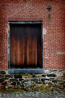 Wood Window Brick Wall