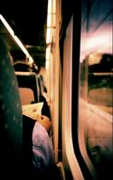 Man on train - Lomo LCA xpro lomographic analog 35