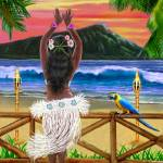 """HAWAIIAN SUNSET HULA"" by HolbrookArt"