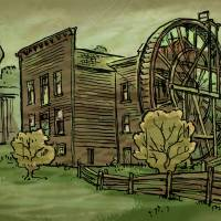 Bale Mill Art Prints & Posters by Bill Russell