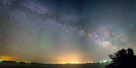 Rural Night Milky Way Sky Panorama