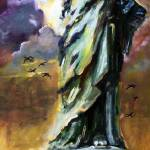 """Statue Of Liberty New York Oil Painting"" by GinetteCallaway"