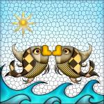"""Fish Mosaic"" by AnneVis"