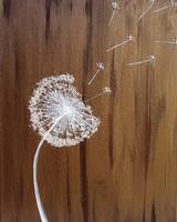 Dandelion in the Wind Mixed Media Painting