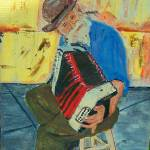 """Papa avec accordian"" by lmeaux2"
